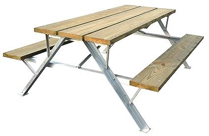 Amazoncom Angle Aluminum Picnic Table FrameFrame Only Garden - Aluminum picnic table frame