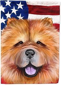 Caroline's Treasures CK6490GF Chow Chow Dog American Flag Flag Garden Size, Small, Multicolor