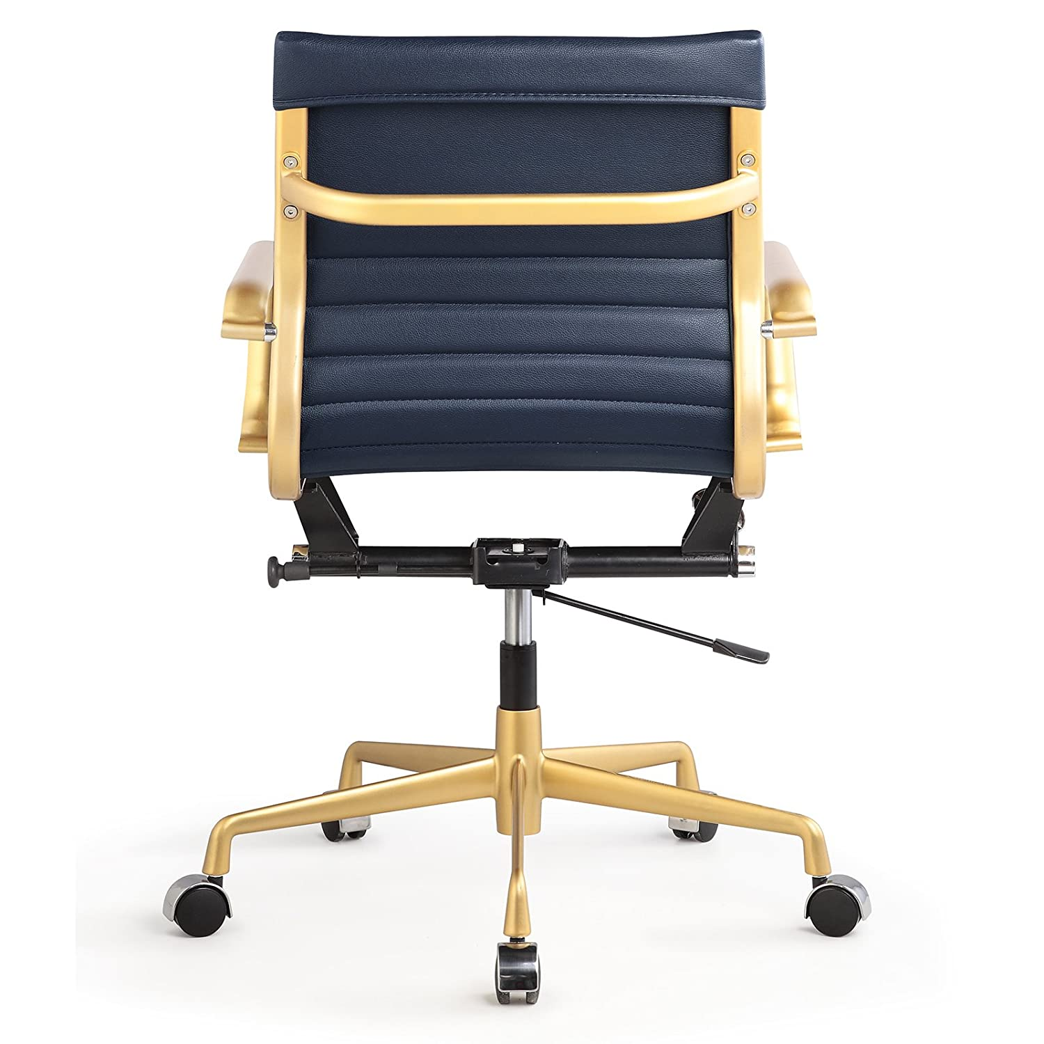 Beautiful Amazon.com: Meelano 348 GD NVY Office Chair In Vegan Leather, Gold/Navy  Blue: Kitchen U0026 Dining