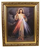 Amazon Price History for:The Divine Mercy Jesus Christ Print in 13 Inch Gold Finish Frame by Gerffert