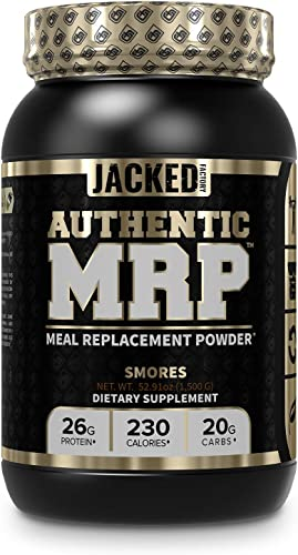 Authentic MRP Meal Replacement Powder – Premium Shake for Lean Muscle Growth Recovery w Real Complex Carbohydrates, Whey Protein Isolate, Healthy Fats fr MCT – Whole Food Supplement, Smores Flavor