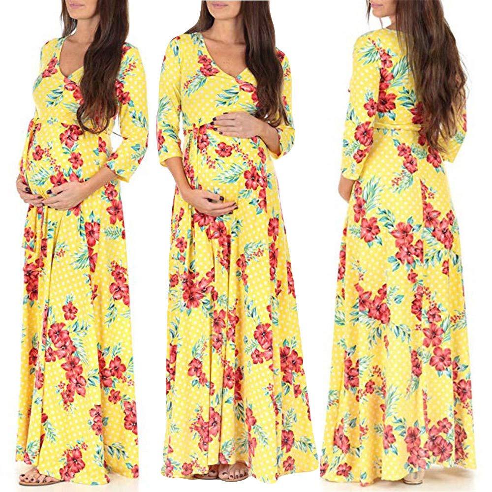 Longra ❤ ❤☛☛✿✿ Vestido de Maternidad del Ajustado del Ajustado de la Correa del Vestido de Maternidad de la Mujer Embarazada: Amazon.es: Ropa y ...