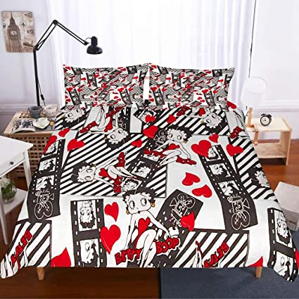 . Amazon com  MOUMOUHOME Girls Bedding Set Twin Size 3D Betty Boop in