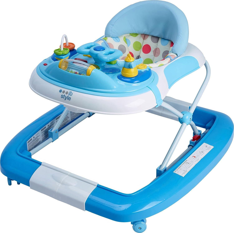 Rocker//Swing ib style/® 3 in 1 Baby Walker Turquoise-Grey Light /& Sound