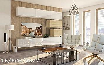 Homedirectltd Wohnwand Future 16 Anbauwand Schrankwand Moderne