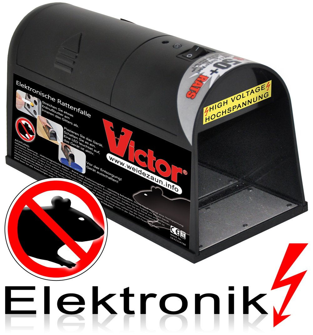 Elektrische Rattenfalle Mausefalle - SAUBER EFFEKTIV DISKRET