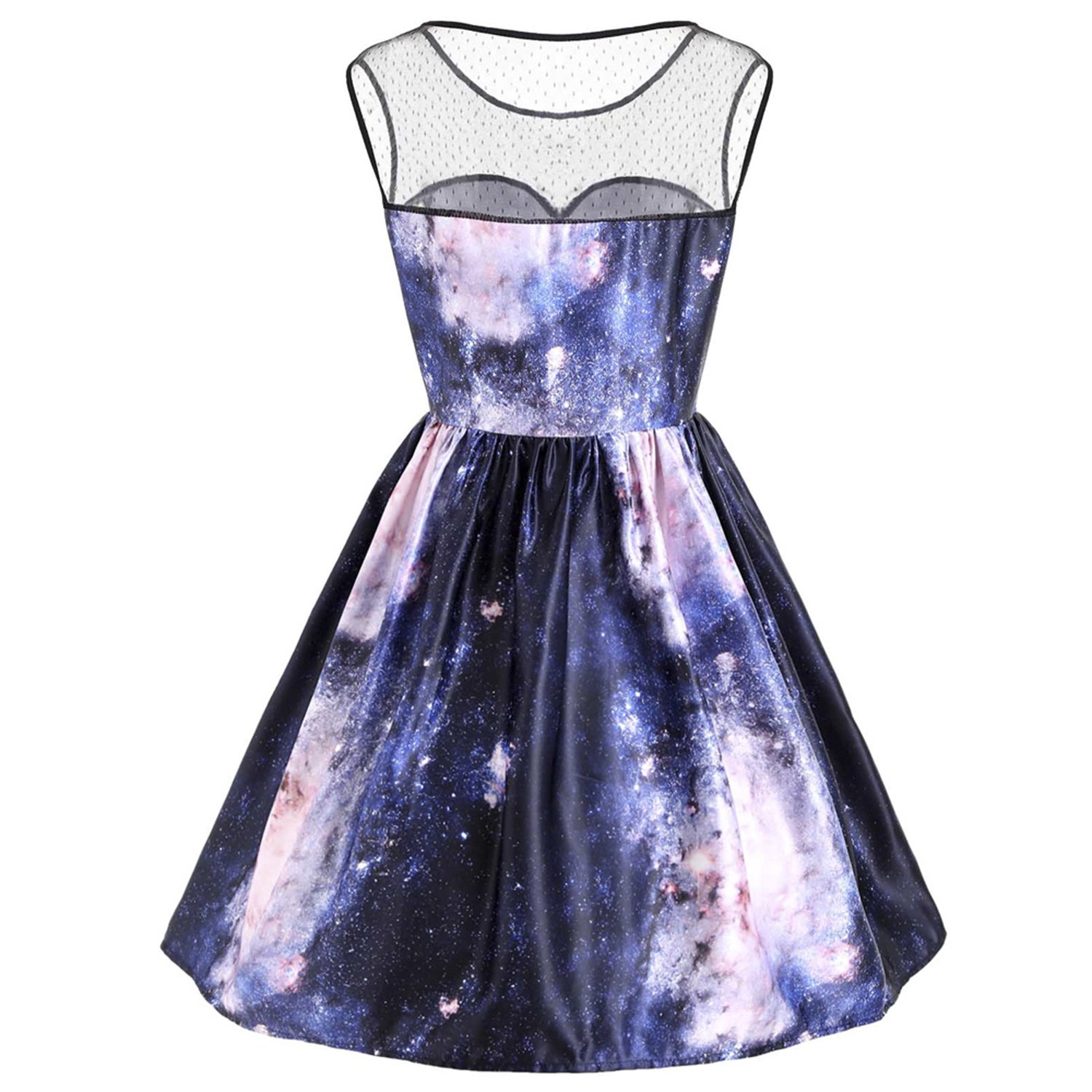 BCVHGD Vintage Sleeveless Galaxy 3D Print Autumn Women Dress Party Vestidos De Fiesta at Amazon Womens Clothing store: