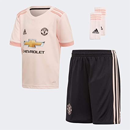 9648ef84d92 Image Unavailable. Image not available for. Color  adidas 2018-2019 Man Utd  Away Little Boys Mini Kit
