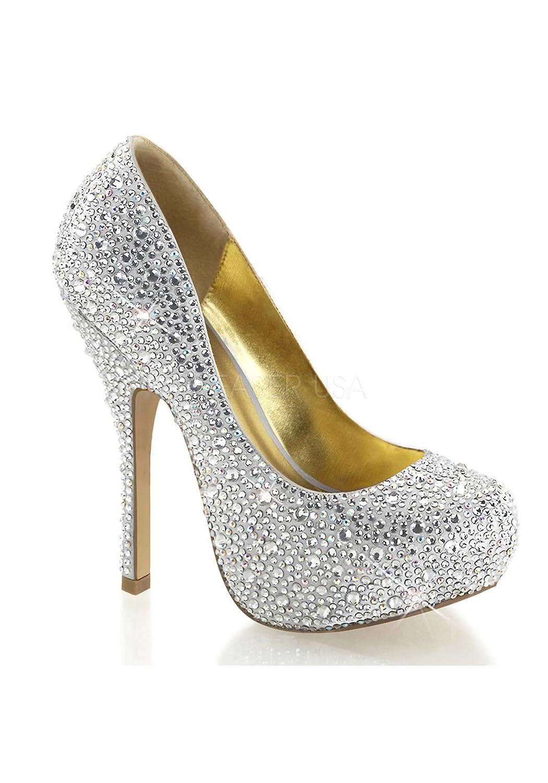 Fabulicious FELICITY-20 - Zapatos de vestir para mujer 37 EU|Slv Satin