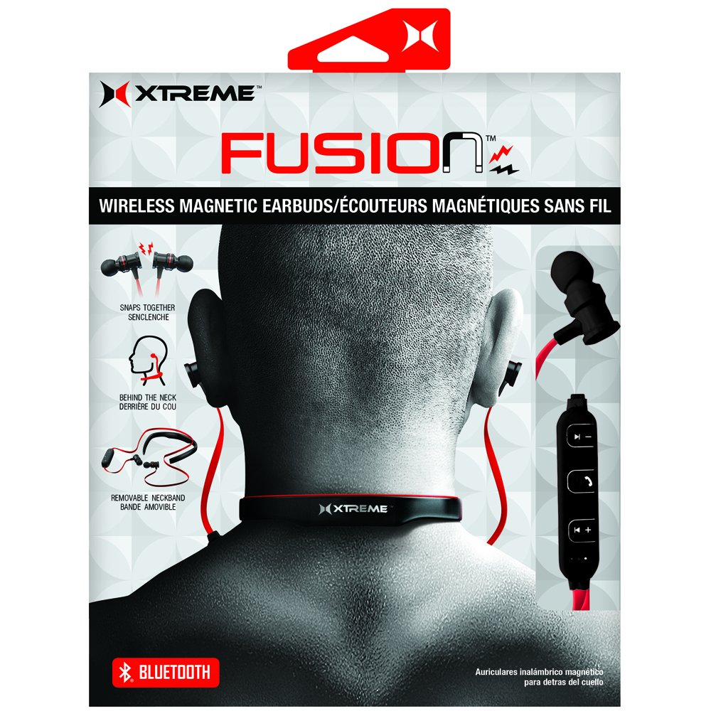 Amazon.com: Xtreme Fusion Bluetooth Headphones Black/Red XBH9-1014-BLR: Electronics