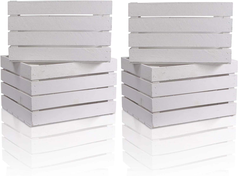 CHICCIE Caja de Madera en Blanco, en Vintage Look – , Distintos ...