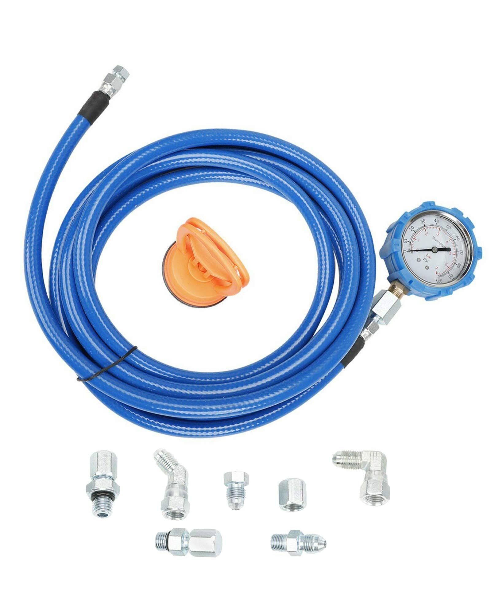 BLACKHORSE-RACING Engine Oil Pressure Test Kit, Powerstroke Fuel with Oil Pressure Mechanical Gauge Test Tool Set for Ford 6.0L & 7.3L Engines