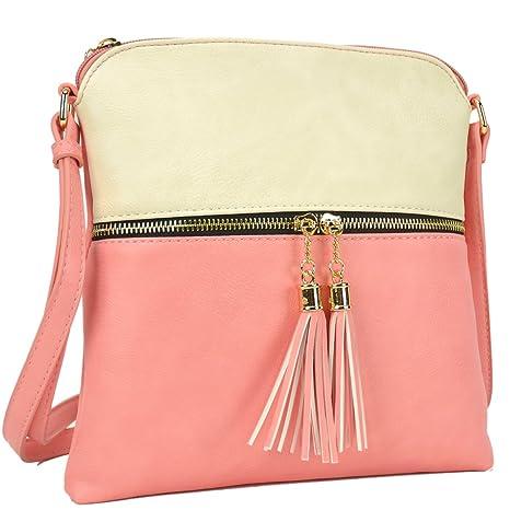 Amazon.com  Spring Purse, Small Satchel Pink Cross-body Cute Messenger Bag  Women Teen Girl Summer Clutch LP062-BG  LPK  MKP Collection 71d1c462c4