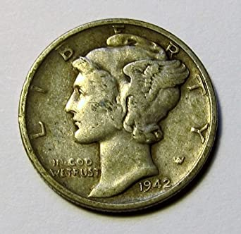 Circulated 1925-S Mercury Dime 90% Silver US Coin