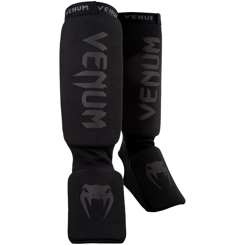 Venum Kontact Shinguards - Black/Black, One Size