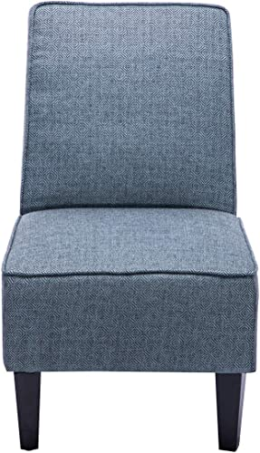 Armless Accent Chair Living Room Chairs Upholstered Chair Dark Blue