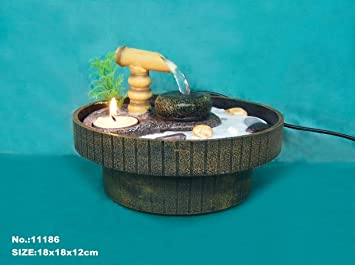Genial Zen Garden Water Fountain With Sand, Rocks And Tea Candle