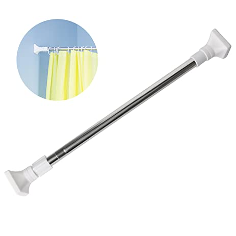 Tension Curtain Rod 33 20 Inch, VDS Extendable Spring Expandable Rod  Stainless Steel Seamless
