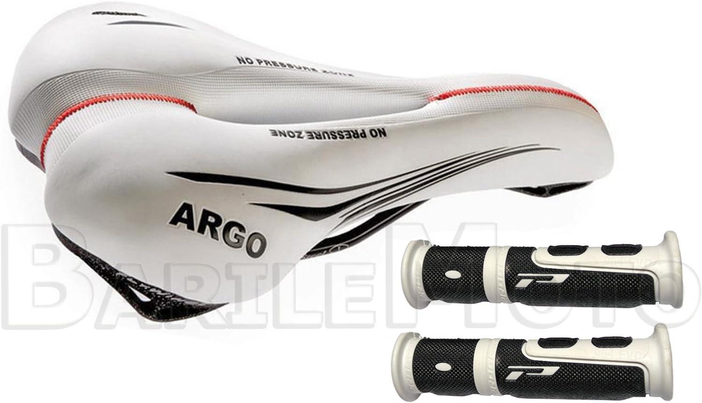Morsetto Sella Bici MTB Sella MONTEGRAPPA ARGO City Bike AntiProstata Bianco