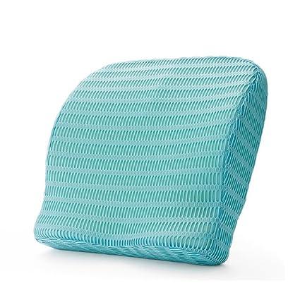 HealthSense Backrest Cushion with Memory Foam (SOFT SPOT - BC 21) - Ice Blue