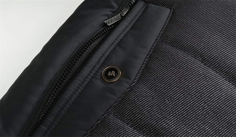 X-Future Men Winter Single Breasted Linen Fleece Outwear Down Jacket Coat