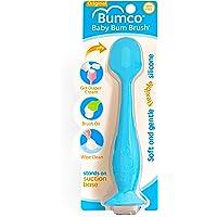 Baby Bum Brush, Original Diaper Rash Cream Applicator, Soft Flexible Silicone, Unique Gift, [Blue]