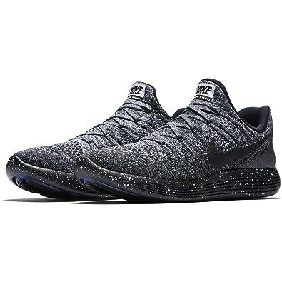 Nike Men's LunarEpic Low Flyknit 2 Running Shoe BLACK/BLACK-WHITE-RACER BLUE