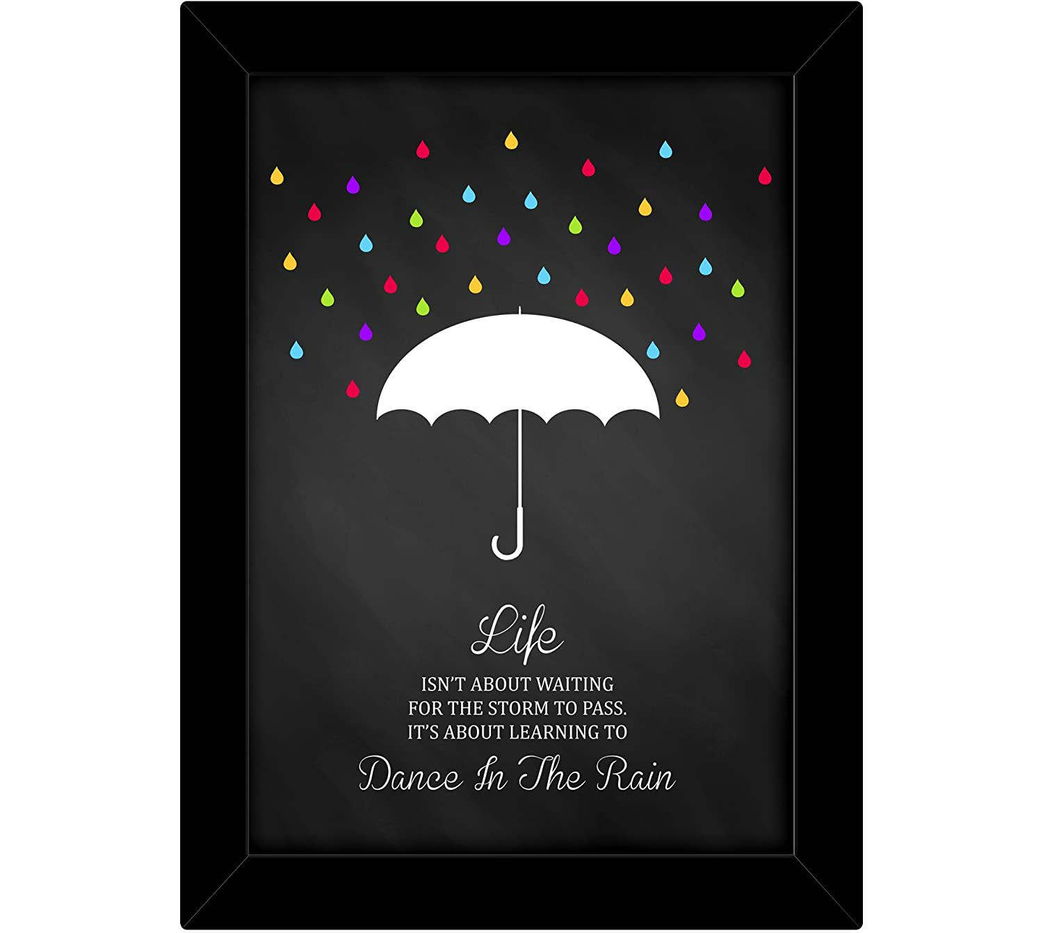 TiedRibbons® Motivational framed wall posters with frame | wall posters with frames | inspiring quotes posters | poster motivational (13.6 inch X 10.2 inch,Framed Poster)