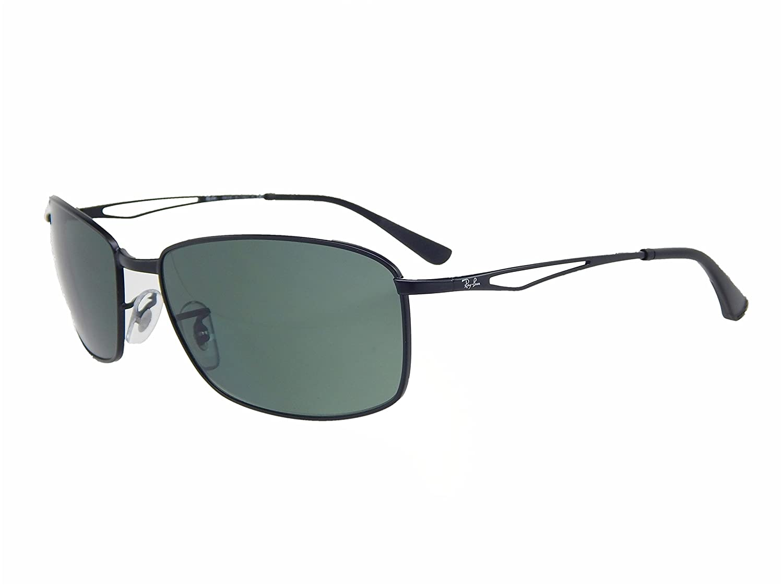 bb9e5f7592 Amazon.com  New Ray Ban RB3501 006 71 61 Matte Black   Green 61mm Sunglasses   Shoes