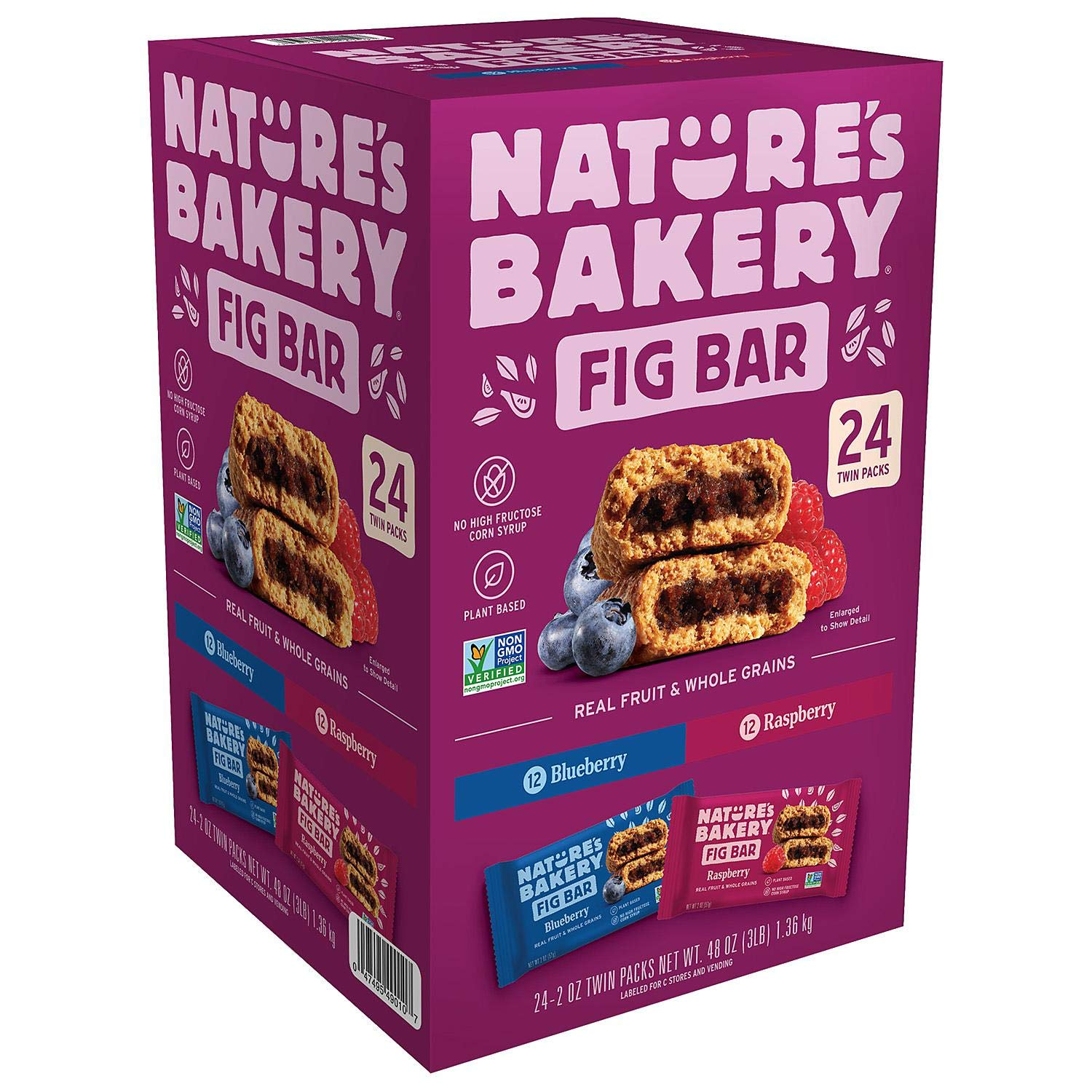 Nature's Bakery Fig Bar Variety Twin Pack (2 oz. - 24 pk.) by Nature's Bakery FB