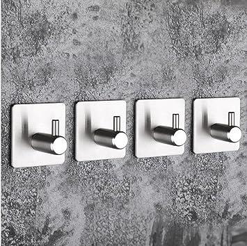(5 Stücke) Metall Power Karabinerhaken Küche 304 Edelstahl Haken  Badezimmertür Rückwand Nahtlose Hängende Kleidung