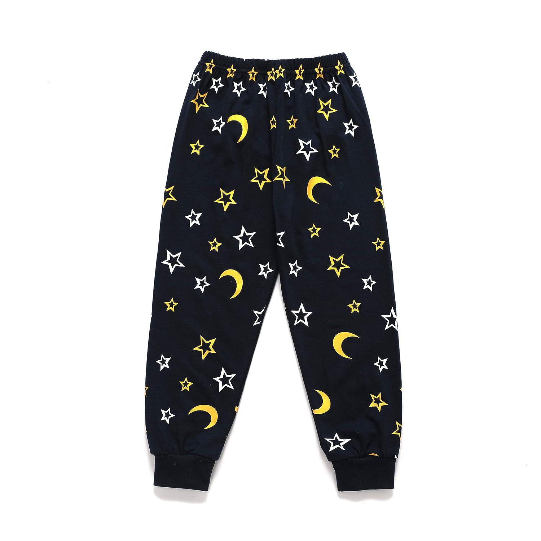 LaLaMa Toddler Boys Cotton Pjs Cute Dinosaur Pajama Set Cartoon Sleepwear