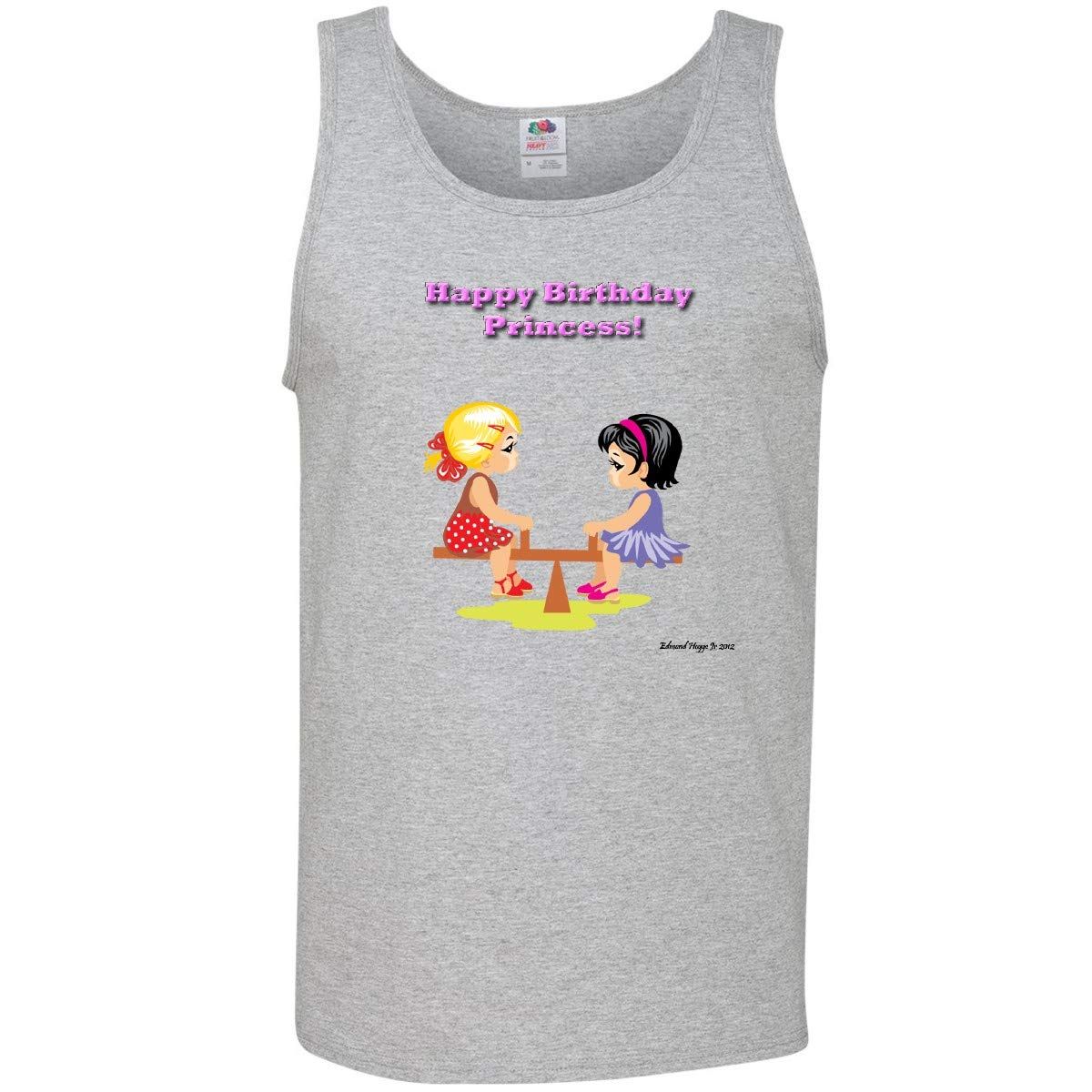 7655c2edc4f0e8 Amazon.com  inktastic - Birthday Girl on See-Saw Men s Tank Top 1151a   Clothing