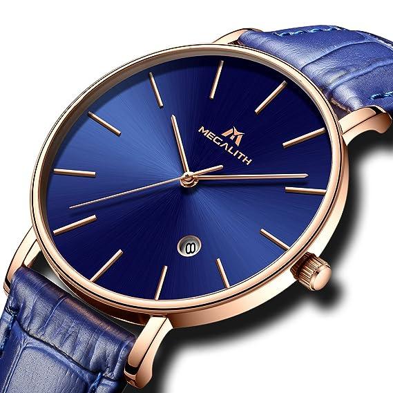Relojes Hombre Reloj Deportivo Impermeable Fecha Calendario Lujo Clásicos Moda Diseño Sencillo Delgado Relojes Grandes de