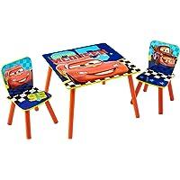 Cars Conjunto de Mesa y Dos sillas, Madera