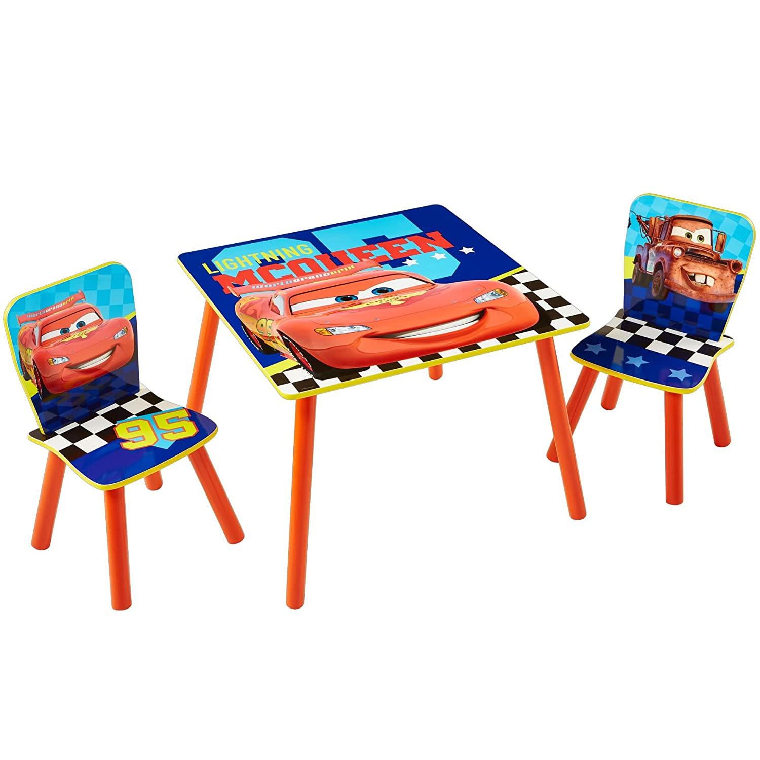 Disney Cars Kids Table and 2 Chair Set by HelloHome Worlds Apart 527CLN