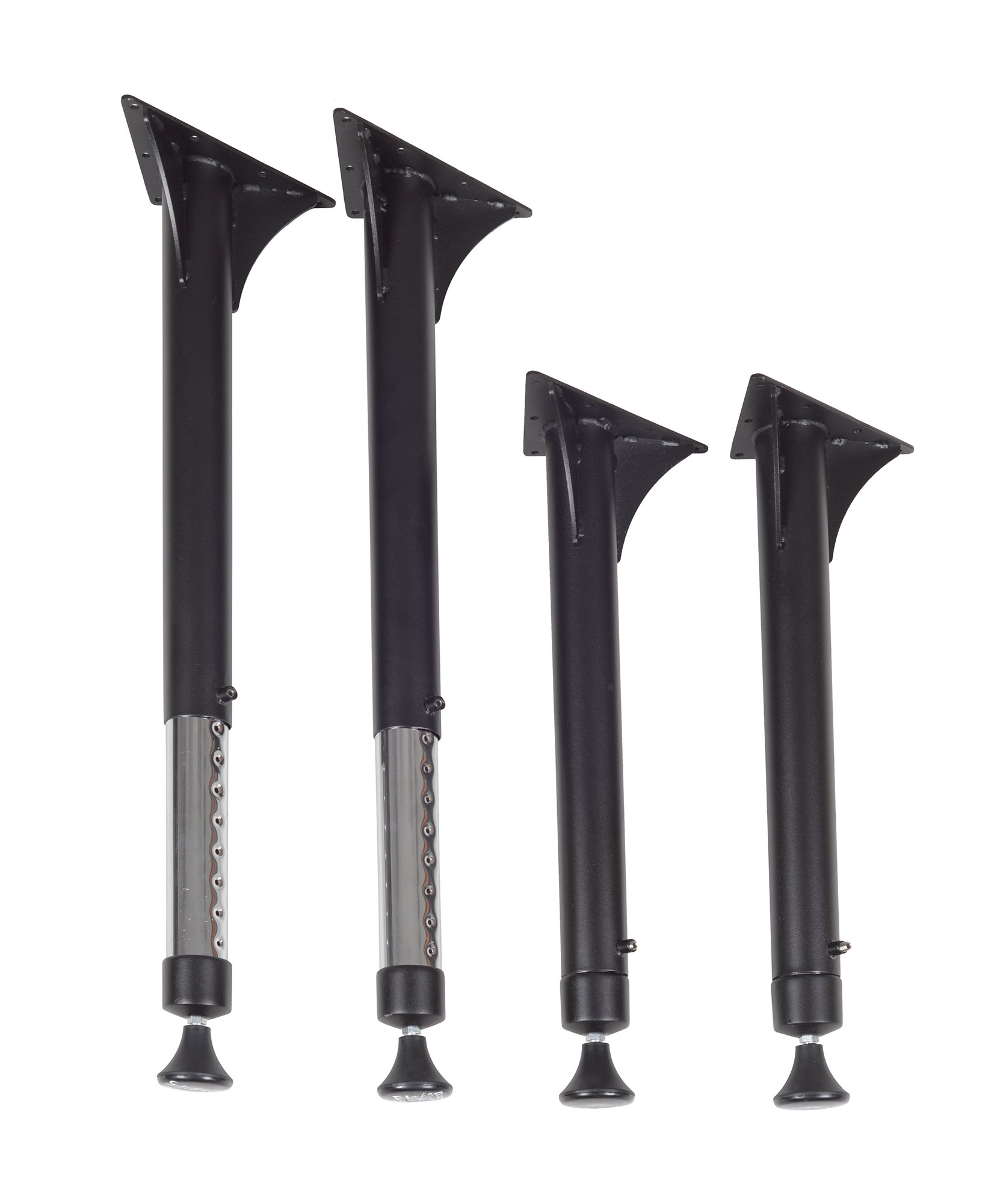Regency Kee Adjustable Leg, black & Chrome (Set of 4) by Regency (Image #1)