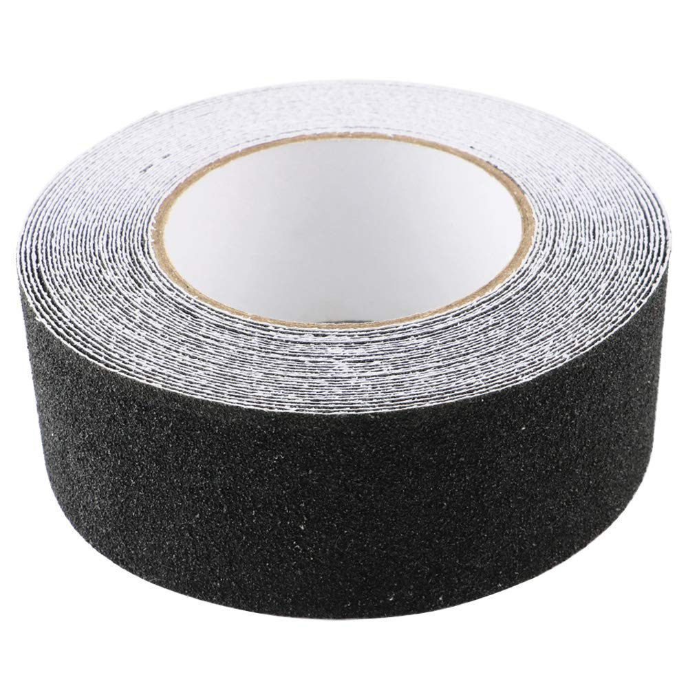 TOOHUI Anti Slip Tape-2 Inch x 33 Foot-Non Slip Adhesive Tape, High Traction Grip Tape, Non Skid Tape Stickers for Stairs Decking Strips, Safety Track Tape for Indoor/Outdoor, Black