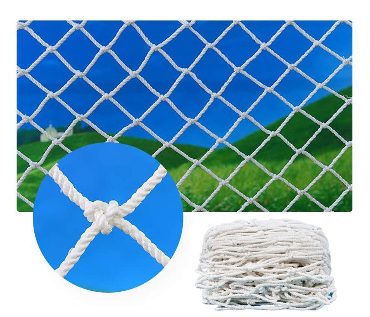 Multi-Function Protection Net Plant Climbing Rope Children's Stairs Balcony Safety Net Indoor and Outdoor Railing Fence Stairs Cat Pet Dog Hanging Clothes Retro Bar Decoration White (Size : 2x8m) by BHH-protection net