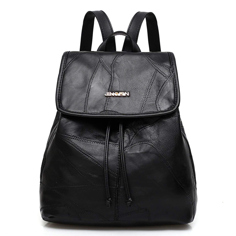 new shoulder bag Shoulder Bag fashion sheepskin stitching ladies backpack travel backpack