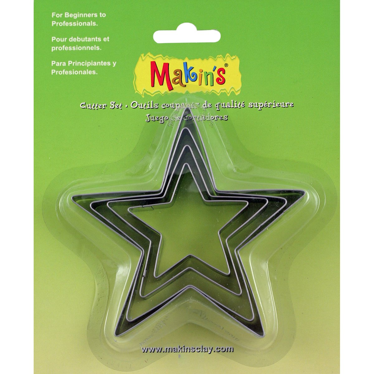 Makin's USA M365-04 Makin's Clay Cutters 4/Pkg-Star by Makin's USA