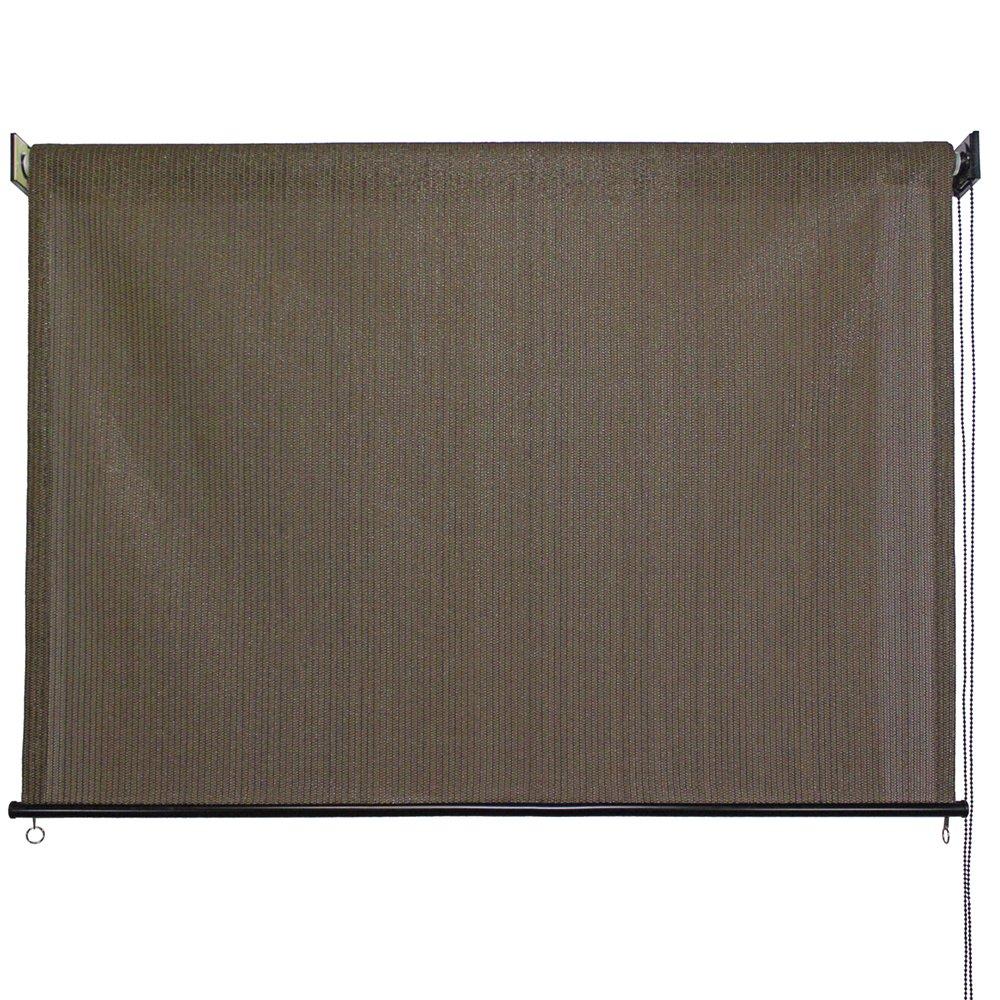 Keystone Fabrics Outdoor Roller Sun Shade, 6-Feet by 6-Feet, Cabo Sand