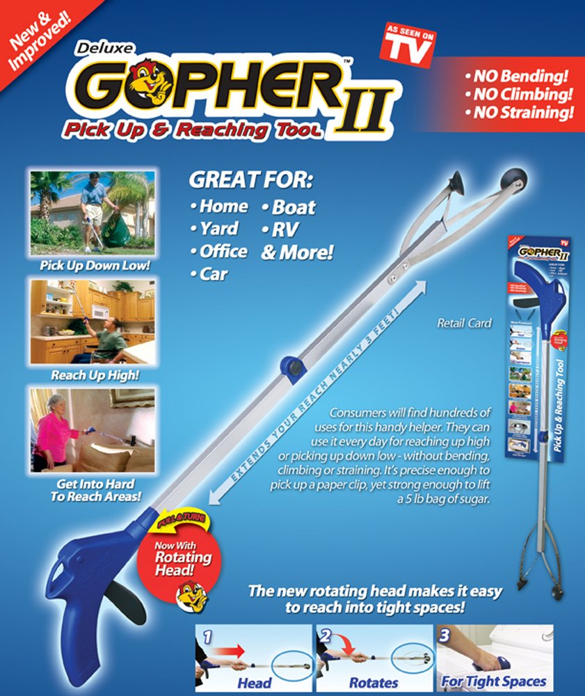 Ontel Gopher 2 Pick-Up and Reaching Tool