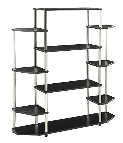 Amazon.com: Convenience Concepts Designs2Go Wall Unit Bookshelf ...