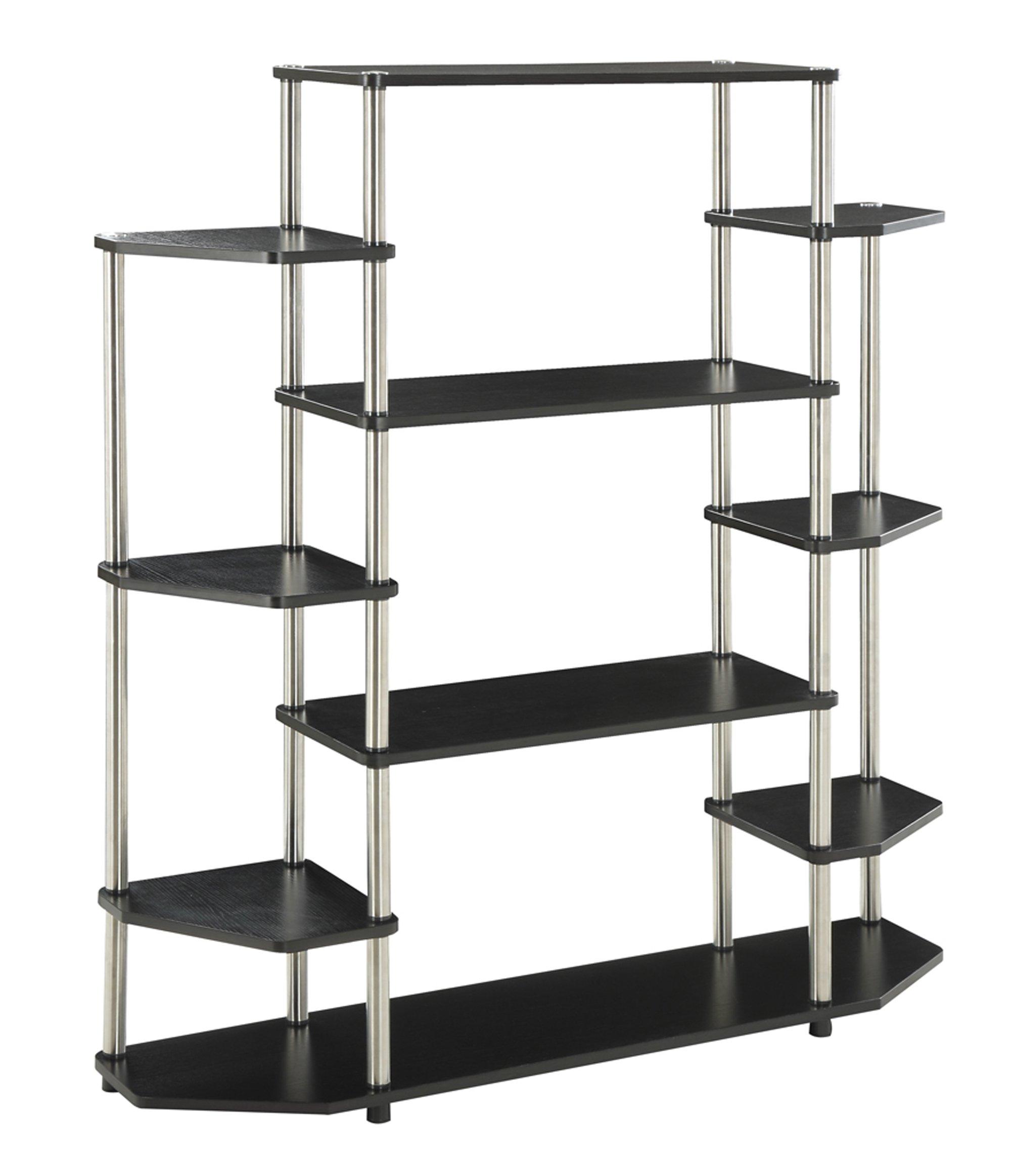 Convenience Concepts Designs2Go Wall Unit Bookshelf, Black