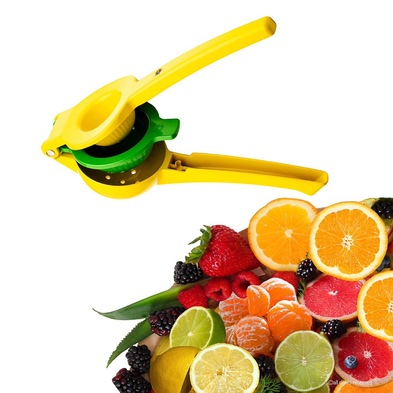 JPOL Top Rated Lemon Lime Squeezer Manual Citrus Hand Press Juicer Premium Quality Metal JP-kp-82