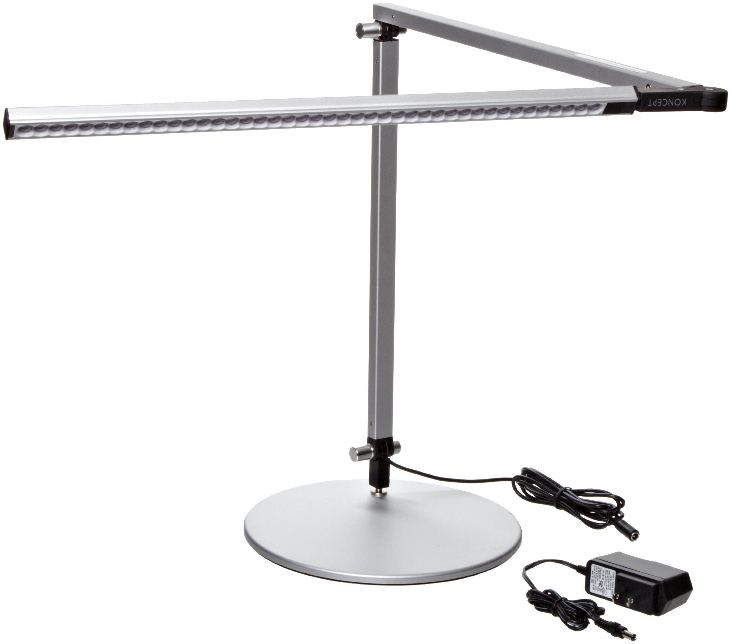 Koncept AR3000-W-SIL-DSK Z-Bar LED Desk Lamp, Warm Light, Silver by Koncept
