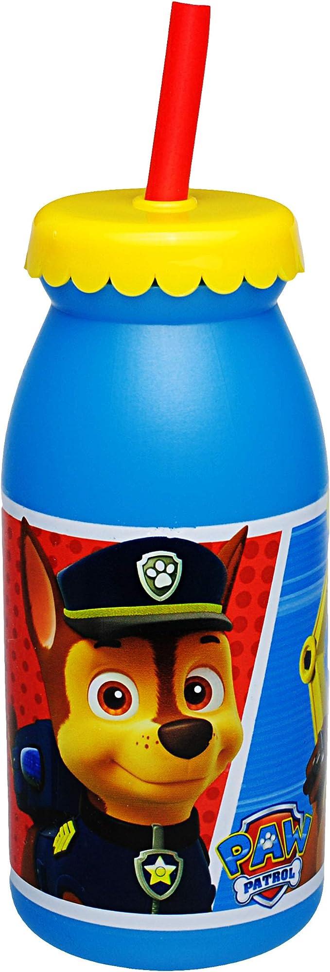 Name Paw Patrol durchsichtig /& transpa.. Kunststoff Plastik 420 ml inkl mit Strohhalm /& Deckel Hunde alles-meine.de GmbH Trinkflasche // Trinkglas BPA frei Tritan