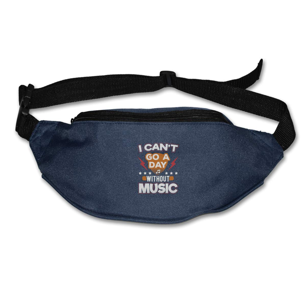 I Cant Go A Day Without Music Sport Waist Packs Fanny Pack Adjustable