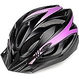 MOKFIRE Casco de Bicicleta para Adultos Hombres Mujeres con Visera Desmontable, Casco de Ciclismo de Carretera con tamaño Aju